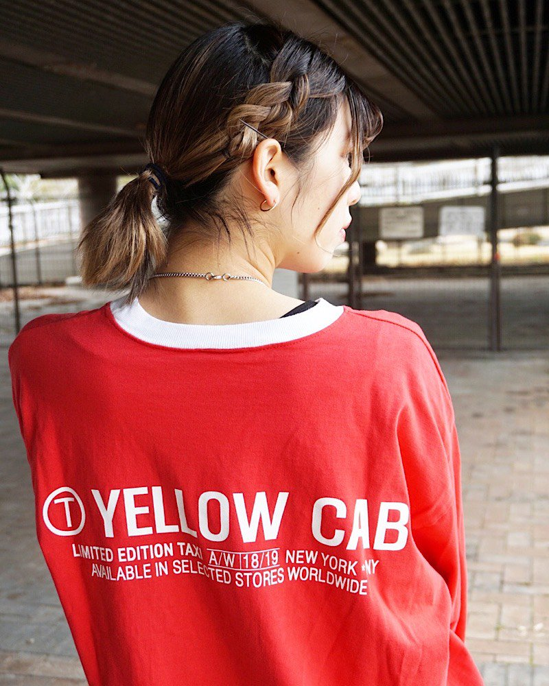オーバーサイズ&ストリート『Re:one Online Store』RED TAXI L/S TEE