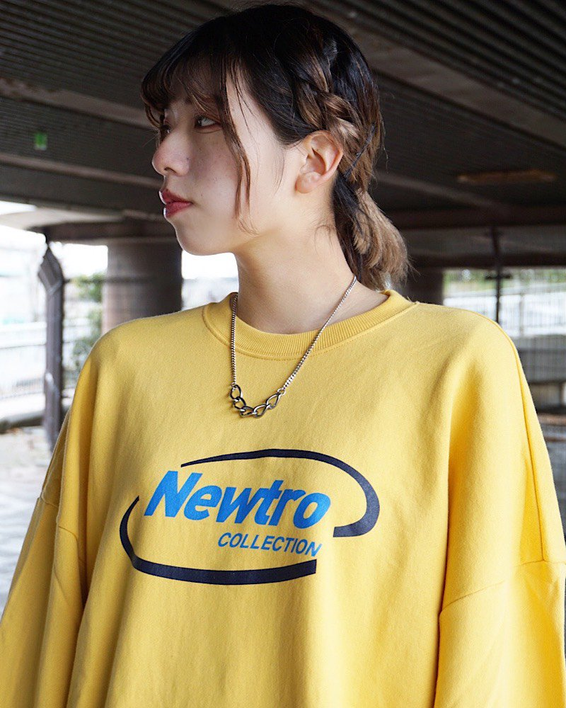 オーバーサイズ&ストリート『Re:one Online Store』New tro L/S SWEAT -YELLOW-