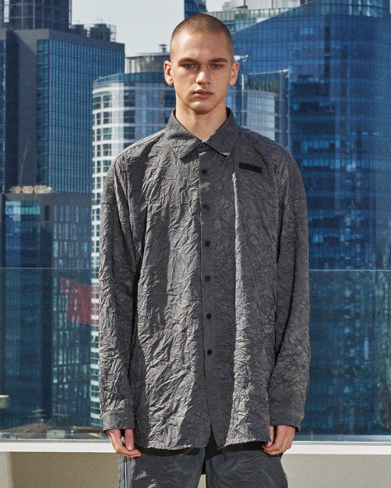 オーバーサイズ&ストリート『Re:one Online Store』「OVERR」CHARCOAL TUNIC SHIRTS