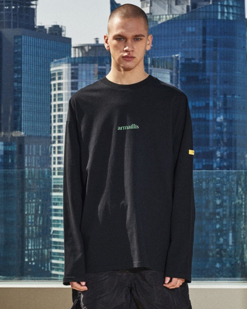 オーバーサイズ&ストリート『Re:one Online Store』「OVERR」ARMAILLIS LOGO BLACK L/S T-SHIRTS