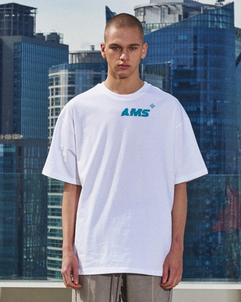 オーバーサイズ&ストリート『Re:one Online Store』「OVERR」AMS BIG LOGO WHITE T-SHIRTS