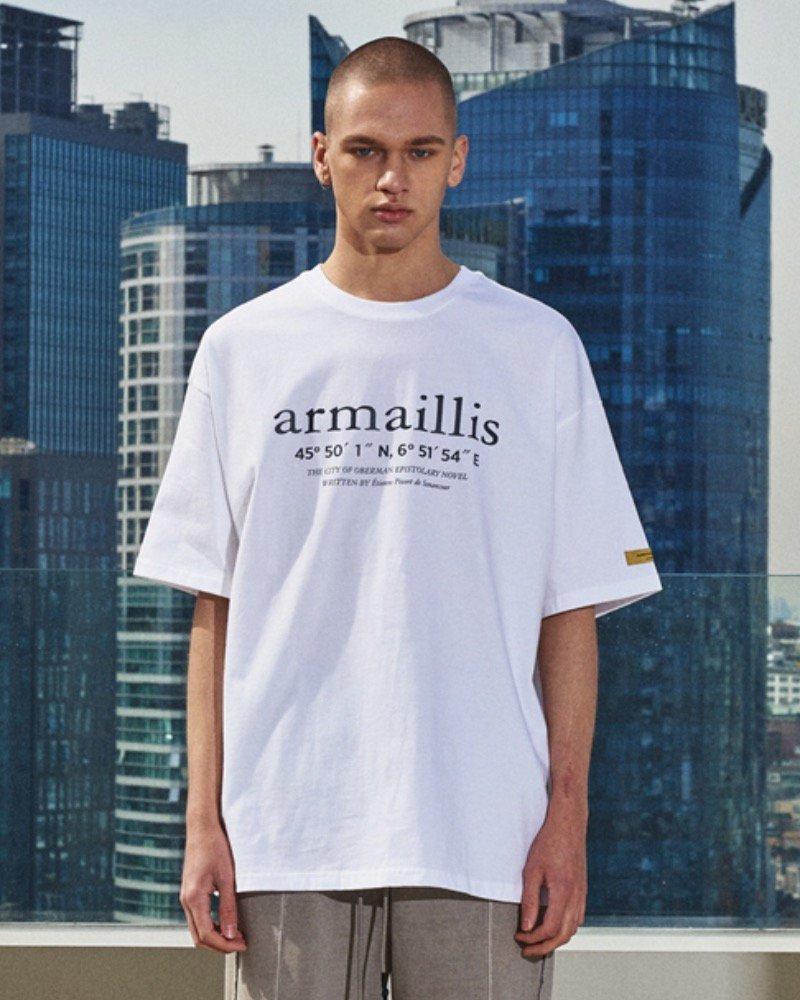 オーバーサイズ&ストリート『Re:one Online Store』「OVERR」STONE MARBLE WHITE T-SHIRTS