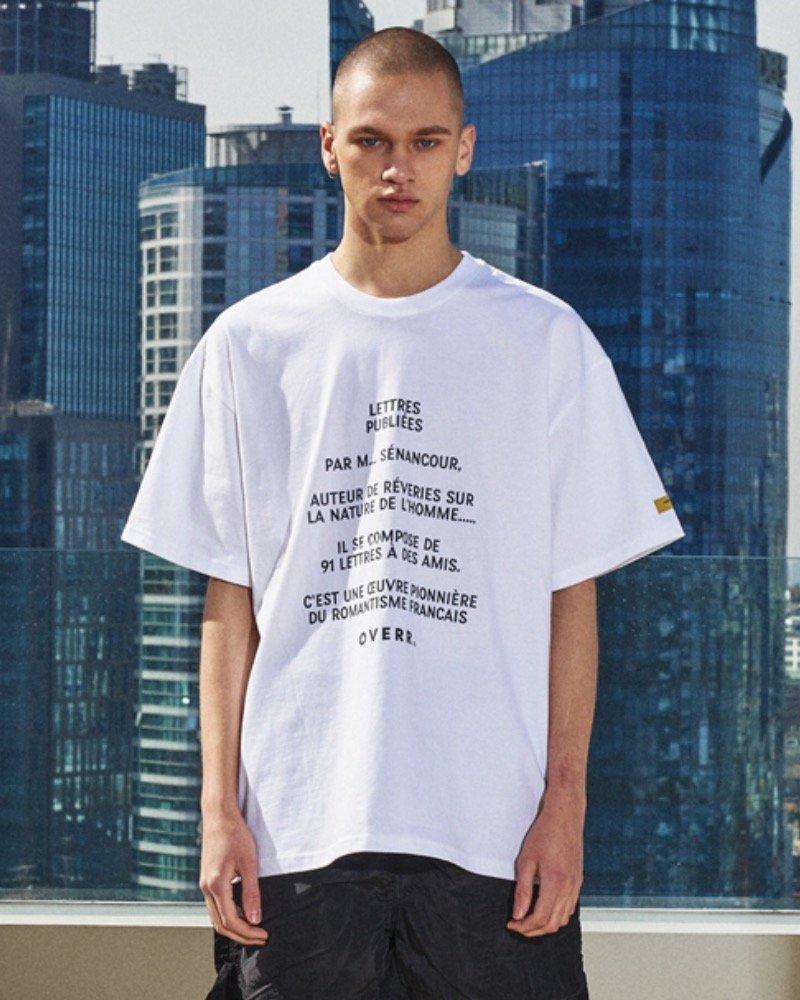 オーバーサイズ&ストリート『Re:one Online Store』「OVERR」OVERR LOGO WHITE T-SHIRTS