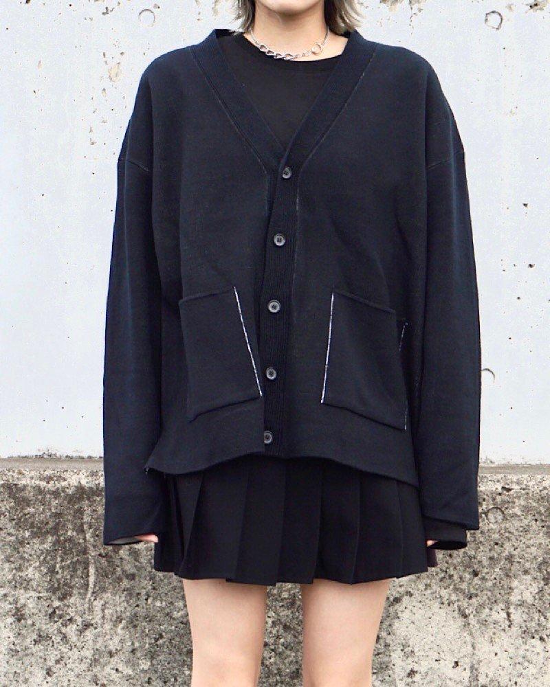 オーバーサイズ&ストリート『Re:one Online Store』【And More】Basic black cardigan