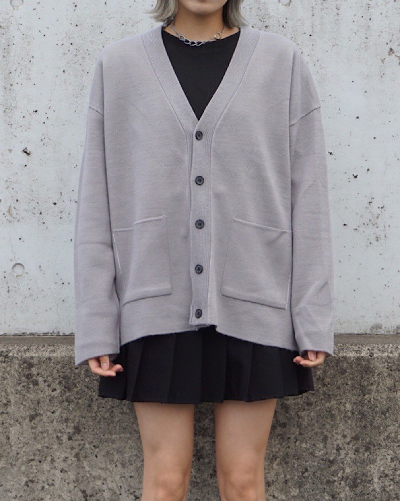 オーバーサイズ&ストリート『Re:one Online Store』【And More】Basic gray cardigan-GRAY-