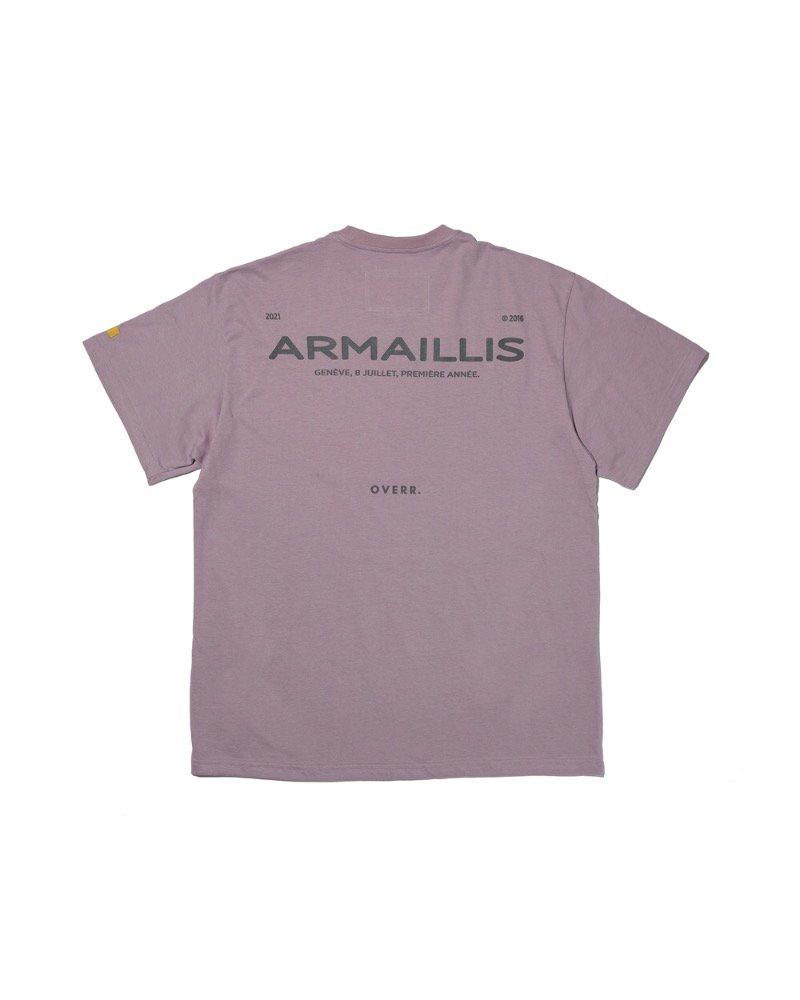 オーバーサイズ&ストリート『Re:one Online Store』「OVERR」ARMAILLIS LOGO PURPLE T-SHIRTS