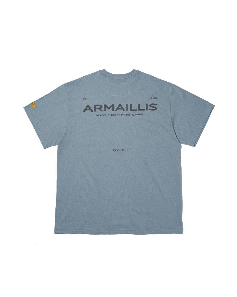オーバーサイズ&ストリート『Re:one Online Store』「OVERR」ARMAILLIS LOGO BLUE T-SHIRTS