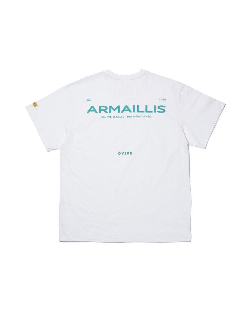 オーバーサイズ&ストリート『Re:one Online Store』「OVERR」ARMAILLIS LOGO WHITE T-SHIRTS