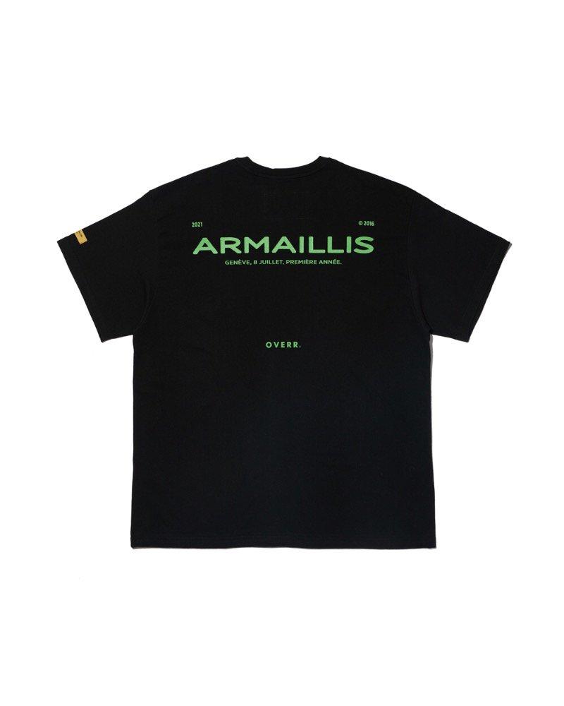 オーバーサイズ&ストリート『Re:one Online Store』「OVERR」ARMAILLIS LOGO BLACK T-SHIRTS