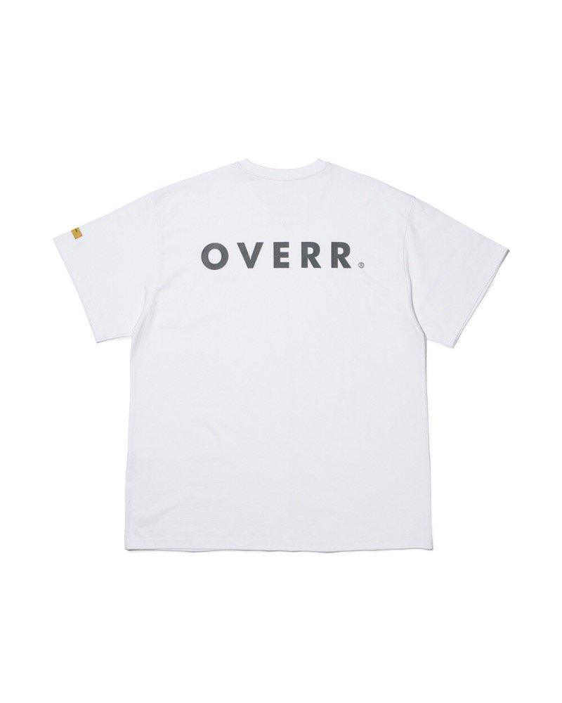 オーバーサイズ&ストリート『Re:one Online Store』「OVERR」OVR LOGO WHITE T-SHIRTS