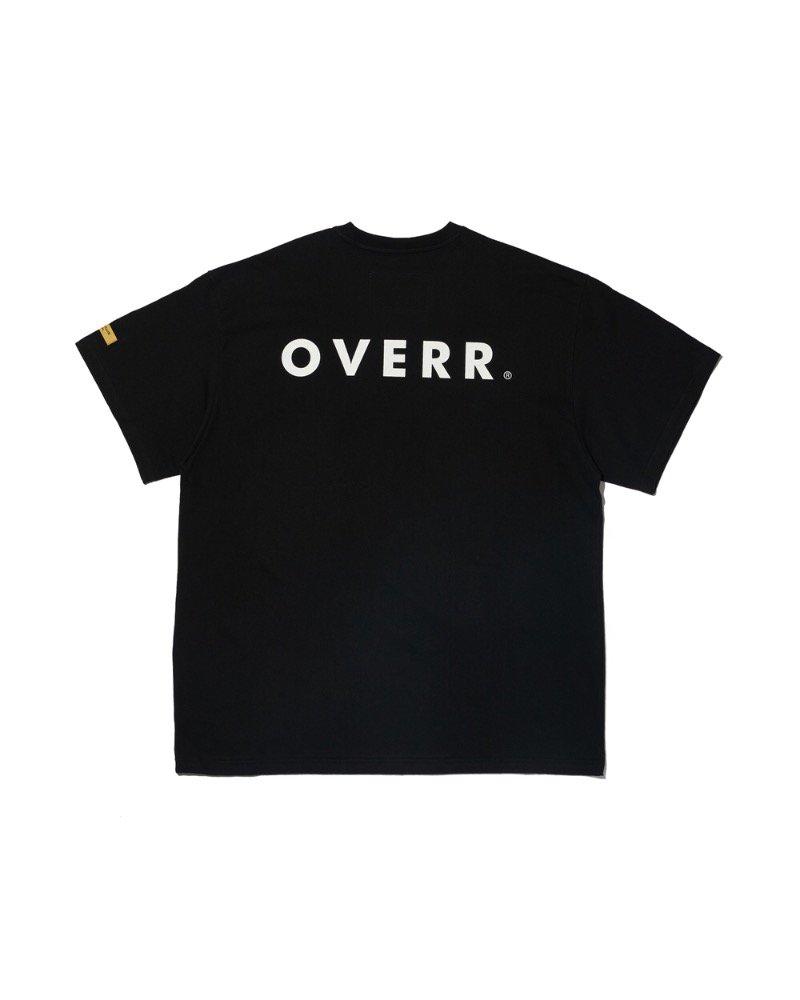 オーバーサイズ&ストリート『Re:one Online Store』「OVERR」OVR LOGO BLACK T-SHIRTS