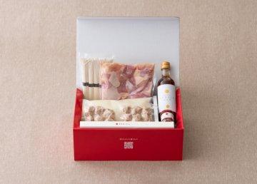 博多水炊きセット 5人前 〆のそうめん・ぽん酢・柚子胡椒・オリジナル菜箸付き