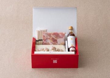 博多水炊きセット 4人前 〆のそうめん・ぽん酢・柚子胡椒・オリジナル菜箸付き