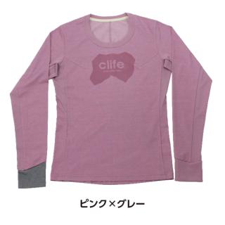 """長袖Tシャツ """"clife long""""〔WOMEN'S〕"""