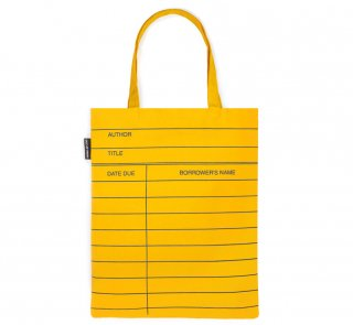 Library Card Tote Bag (Classic Yellow)