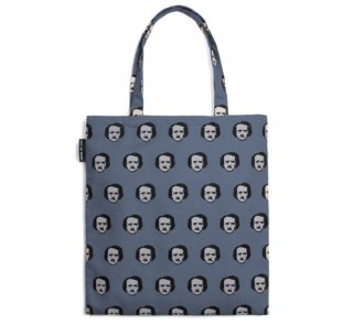 Edgar Allan Poe / Poe-ka Dots Tote Bag (Grey)
