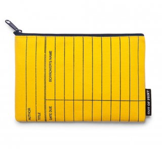 Library Card Pouch (Classic Yellow)