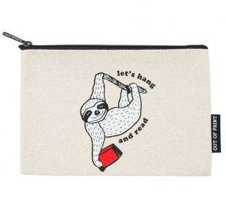 Book Sloth / Let's Hang and Read Pouch