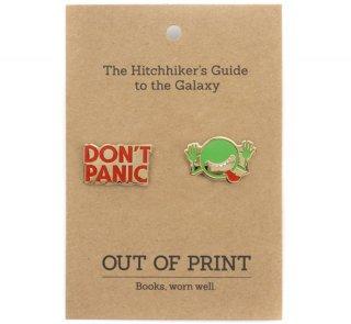 Douglas Adams / The Hitchhiker's Guide to the Galaxy Enamel Pin Set