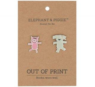 Mo Willems / Elephant & Piggie Enamel Pin Set