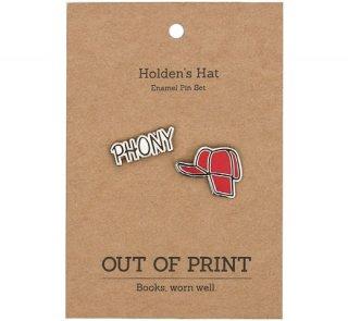 J. D. Salinger - Catcher in the Rye / Holden's Hat Enamel Pin Set