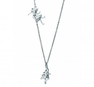 Down the Rabbit Hole Necklace (Alice's Adventures in Wonderland) (Silver)
