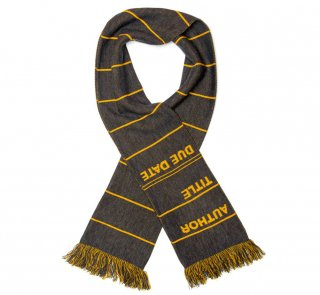 Library Card Scarf (Grey)