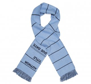 Library Card Scarf (Blue)