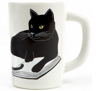 Bookstores. Cats. Life is sweet. Mug