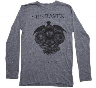 Edgar Allan Poe / The Raven Long Sleeve Tee (Grey)