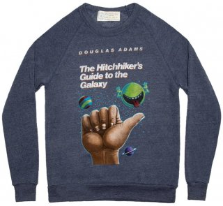 Douglas Adams / The Hitchhiker's Guide to the Galaxy Sweatshirt (Navy)