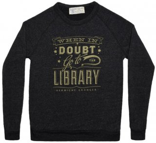 Hermione Granger / When in doubt, go to the library Sweatshirt (Vintage Black)