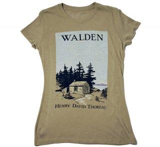 Henry David Thoreau / Walden Tee (Olive) (Womens)