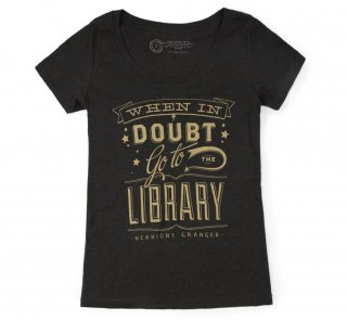 Hermione Granger / When in doubt, go to the library Tee (Black) (Womens)