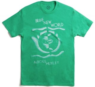 Aldous Huxley / Brave New World Tee (Green)