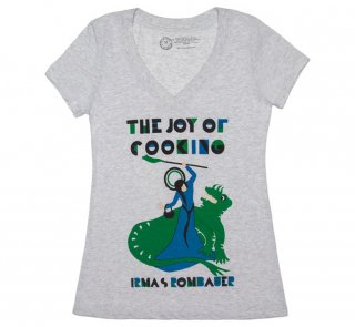 Irma S. Rombauer / The Joy of Cooking V-Neck Tee (Heather White) (Womens)