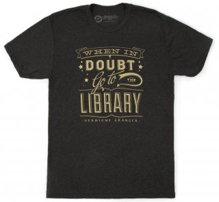 Hermione Granger / When in doubt, go to the library Tee (Black)