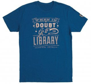 Hermione Granger / When in doubt, go to the library Tee (Ravenclaw Blue)