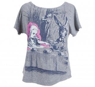 Lewis Carroll / Alice's Adventures in Wonderland Dolman Tee (Heather Grey) (Womens)
