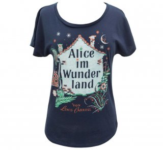 Lewis Carroll / Alice im Wunderland Relaxed Fit Tee (Midnight Navy) (Womens)