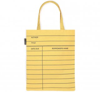 Library Card Tote Bag (Light Yellow)