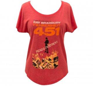 Ray Bradbury / Fahrenheit 451 Relaxed Fit Tee (Womens) (Red)