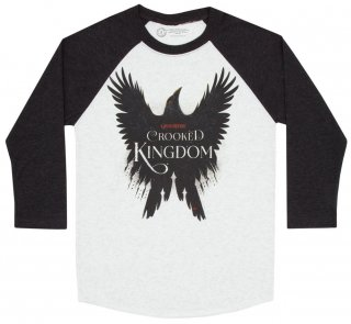 Leigh Bardugo / Crooked Kingdom Raglan Tee (Heather White/Indigo)