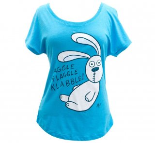 Mo Willems / Knuffle Bunny Relaxed Fit Tee (Vintage Turquoise) (Womens)