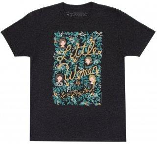 Louisa May Alcott / Little Women Tee [Puffin in Bloom] (Vintage Black)