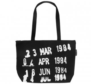 Library Stamp Market Tote Bag (Black)