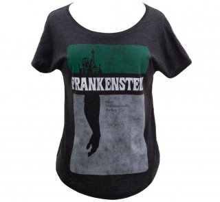 Mary Wollstonecraft Shelley / Frankenstein Relaxed Fit Tee (Black) (Womens)