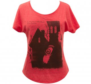 Shirley Jackson / The Haunting Of Hill House Relaxed Fit Tee [Penguin Horror] (Vintage Red) (Womens)