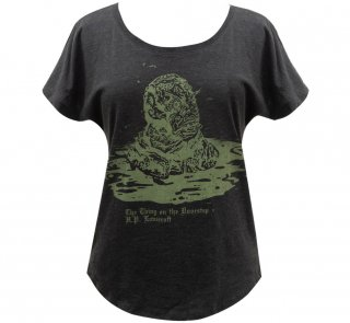 H. P. Lovecraft / The Thing on the Doorstep Relaxed Fit Tee [Penguin Horror] (V.Black) (Womens)