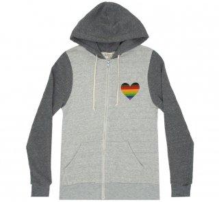 Book Nerd Pride Zip Hoodie (Oatmeal/Grey)